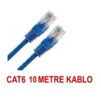 10 Metre Cat6 internet Ethernet Kablosu Fabrikasyon Rj45 BST-2075p