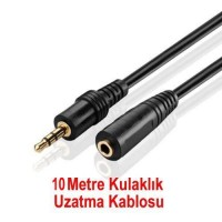 10 Metre Kulaklık Uzatma Kablosu Ses 3.5mm Aux EKLEME