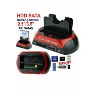 2.5 3.5 USB IDE SATA ESATA  HDD DOCK STAND HARDDİSK MASAÜSTÜ PC