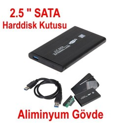 2.5 Sata Harddisk Kutusu-USB 2.0 3.0  Notebook Diskleri İçin HDD Kutu