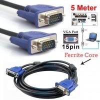 5 Metre VGA Kablo 15 Pin Erkek Erkek Görüntü Kablosu LCD Projeksiyon Ekran Monitör Kasa Bağlantı