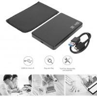 2.5 inç USB 3.0 Sata Harddisk HDD Kutusu İNCE SİYAH + KILIF