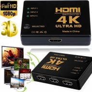 Hdmi ÇOKLAYICI 3 PORT 4K ULTRA HD HDMI Switch Splitter