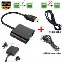 Hdmi to Vga Kablo Çevirici Dönüştürücü Ses Uydu Receiver PS3 PS4 XBOx Raspberry Pi Macbook