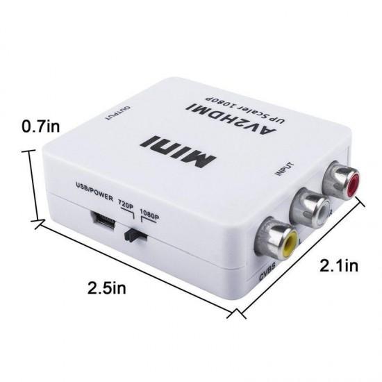 RCA TO Hdmi TOS AV ÇEVİRİCİ DÖNÜŞTÜRÜCÜ CONVERTER MG-2120 1080P TV TÜPLÜ TELEVİZYON SCART AV VİDEO